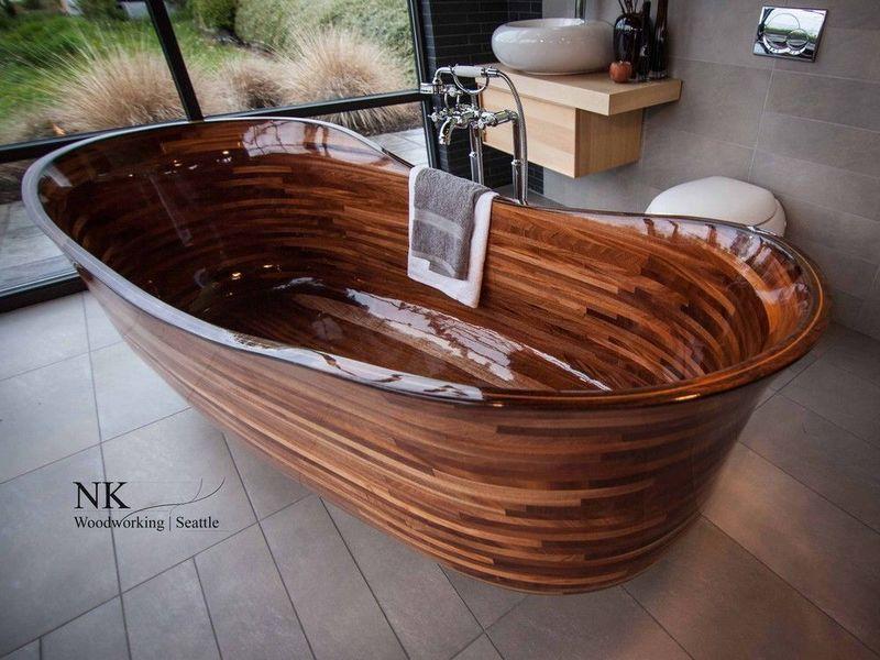 Ванна из дерева