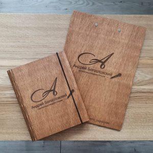 Деревянный планшет для ведущего купить в Минске