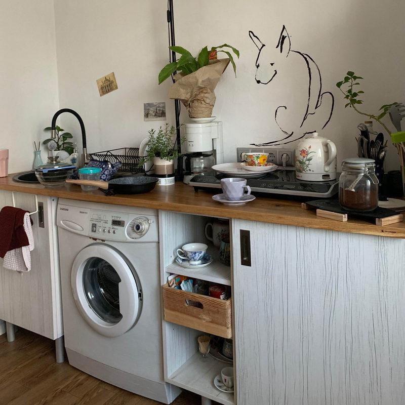 Деревянная столешница на кухню купить в Минске